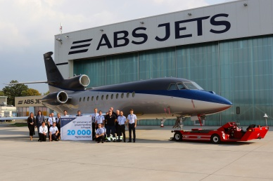 ABS Jets ground handling turns 10th anniversary and 20 000 flights handled in Prague