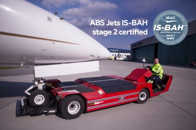ABS Jets receives IS-BAH stage II accreditation for its Ground handling in Prague